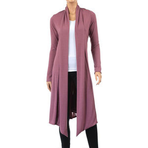 NWOT-Rags&Couture Knee-Length Hacci Cardigan Sz Lg